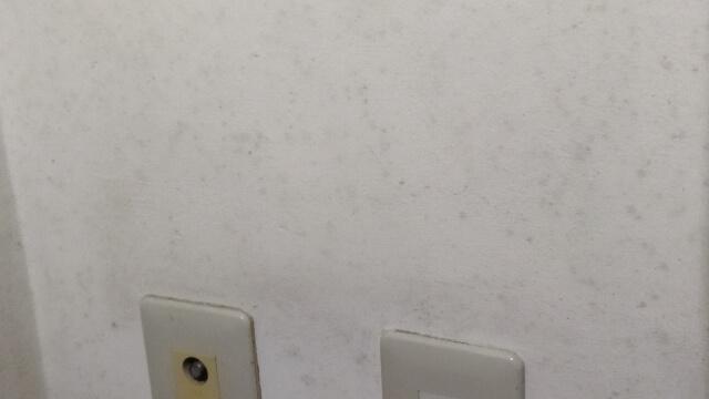 ビレッジハウス 湿気からコンクリート壁に黒カビが繁殖